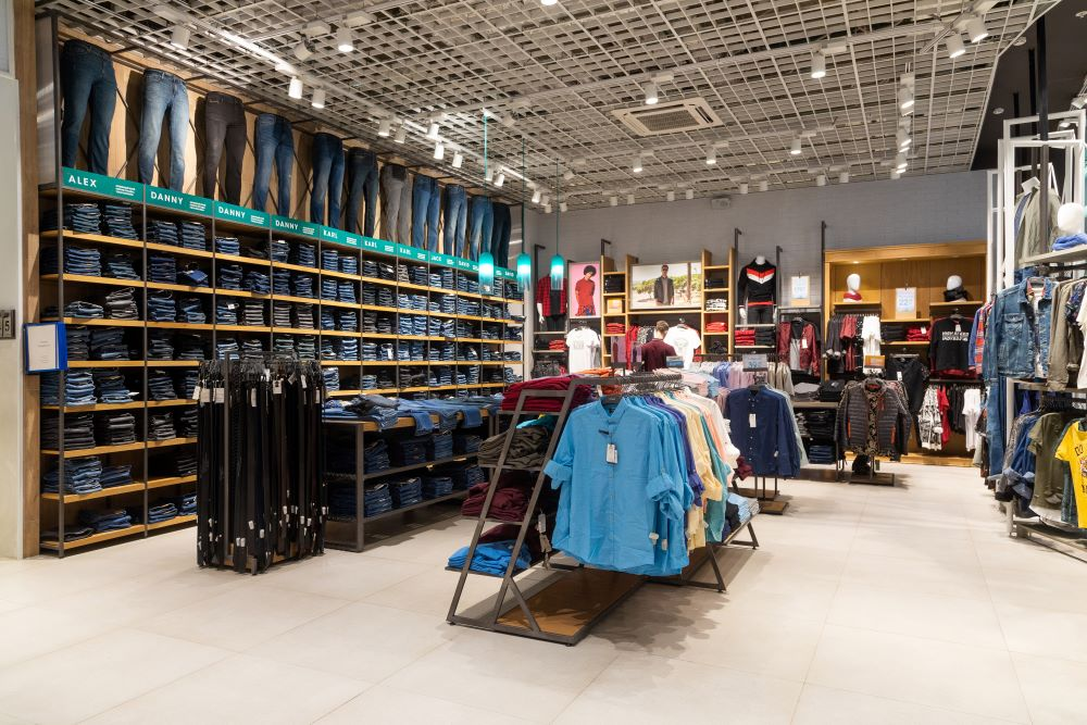 store interior and layout displaying merchandising